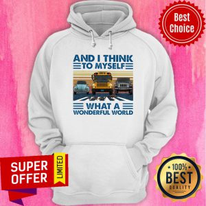 And I Think To Myself What A Wonderful World Hoodie