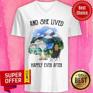 And She Lived Happily Ever After Camping V-neck