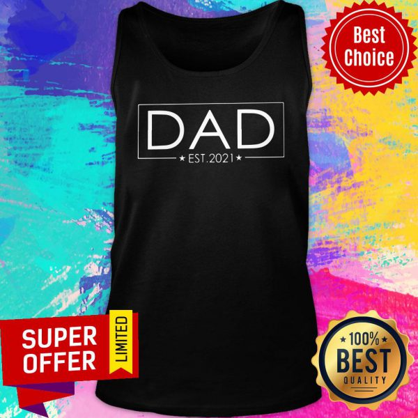 Awesome Dad Est 2021 Tank Top