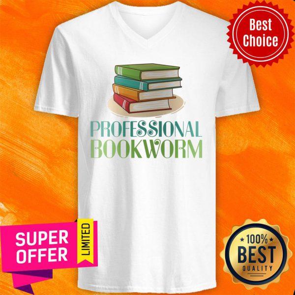 Awesome Professional Bookworm V-neck