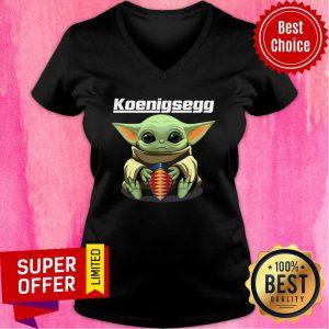 Baby Yoda Hug Koenigsegg V-neck