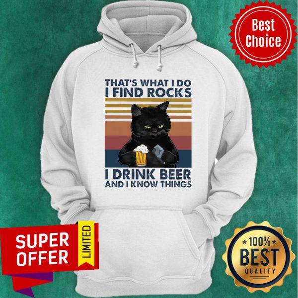 Black Cat Geology Find Rock Beer Hoodie