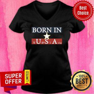 Born In USA Y Go I Via Star V-neck