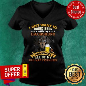 Drink Beer With My Dachshund And Ignore Dog Lover V-neck