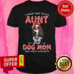 I Have Two Titles Aunt And Dog Mom Rock Shirt