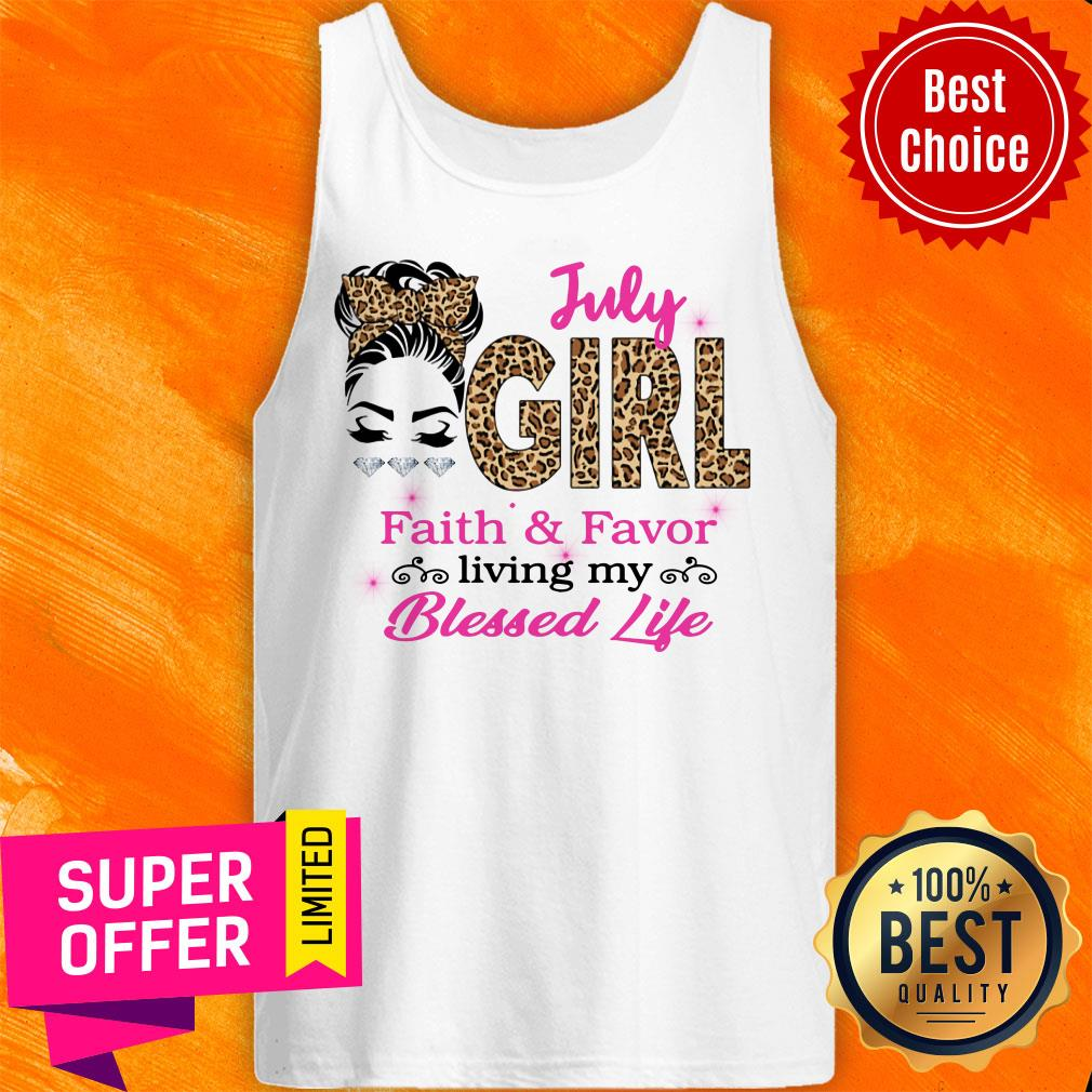 July Girl Living My Blessed Lief Tank Top