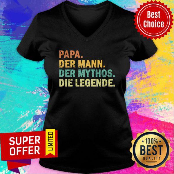 Papa Der Mann Der Mythos Die Legende Vintage V-neck