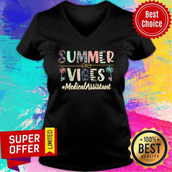 Summer Vibes Medical Assistant V-neck