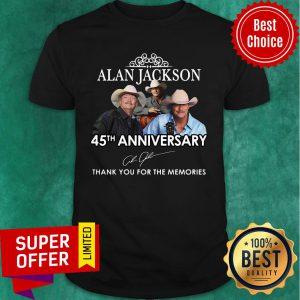 Alan Jackson 45th Anniversary Thank You For The Memories Shirt