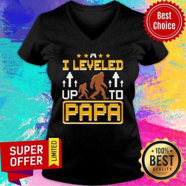 Bigfoot I Leveled Up To Papa V-neck