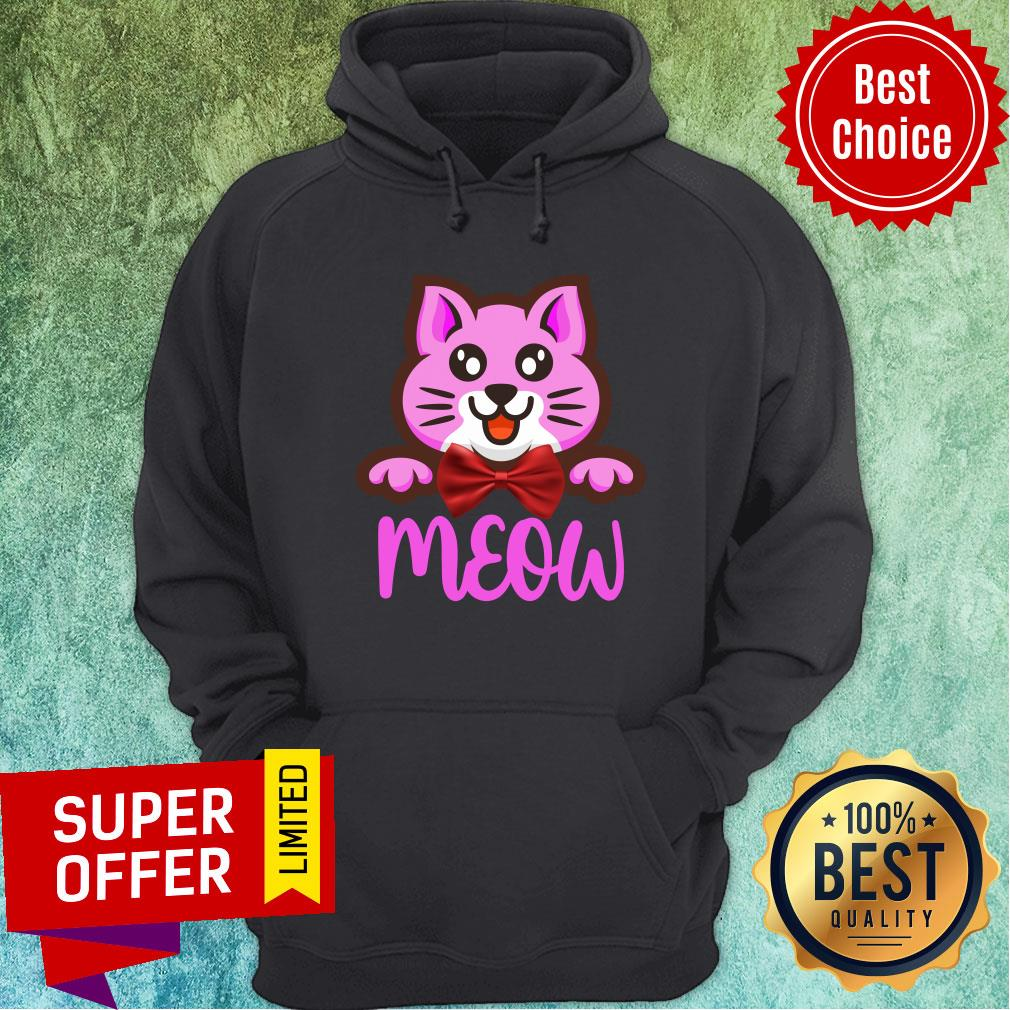 Cute Cat Meow Bow Hoodie
