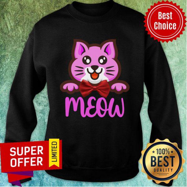 Cute Cat Meow Bow Sweatshirt