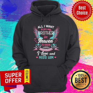 Heaven All I Want Is For Brother To Know How Much I Love And Miss Him Wings Hoodie