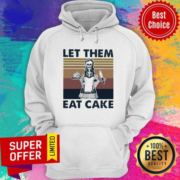 Skull Let Them Eat Cake Vintage Hoodie