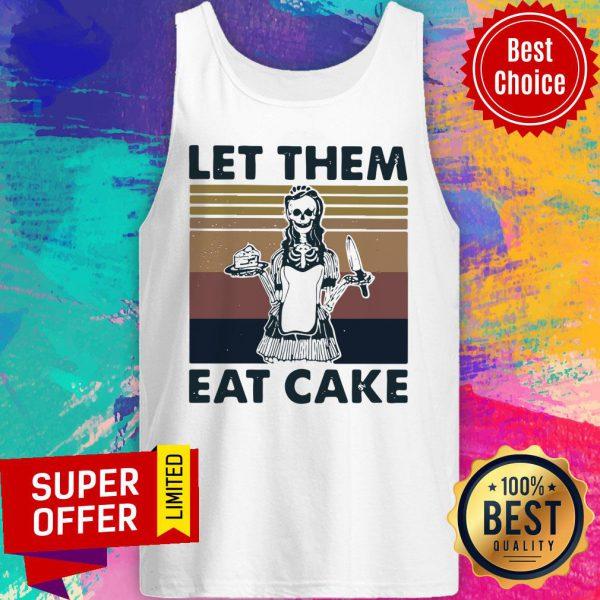 Skull Let Them Eat Cake Vintage Tank Top