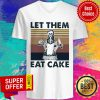 Skull Let Them Eat Cake Vintage V-neck