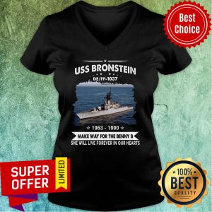 Uss Bronstein 1037 1963 - 1990 Make Way For The Benny Our Hearts Name V-neck