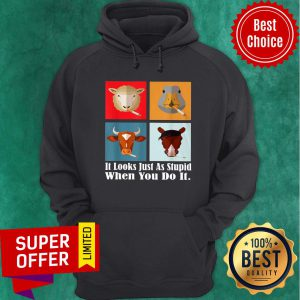 Animals with Cigars It Looks Just As Stupid When You Do It Hoodie