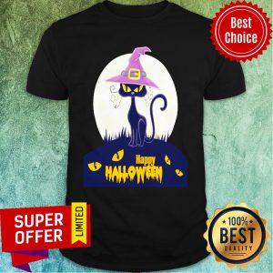 Black Cat Moana Happy Halloween Shirt