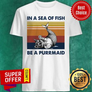 Cat In A Sea Of Fish Be A Purrmaid Vintage Shirt