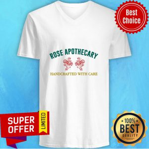 Rose Apothecary Handcrafted With Care V-neck