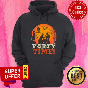 Witch Party Time Owl Bat Halloween Hoodie