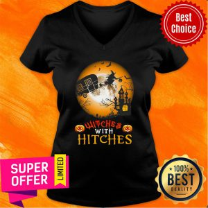 Witches With Hitches Halloween V-neck
