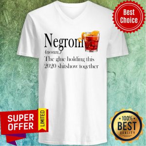 Negroni The Glue Holding This 2020 Shitshow Together V-neck