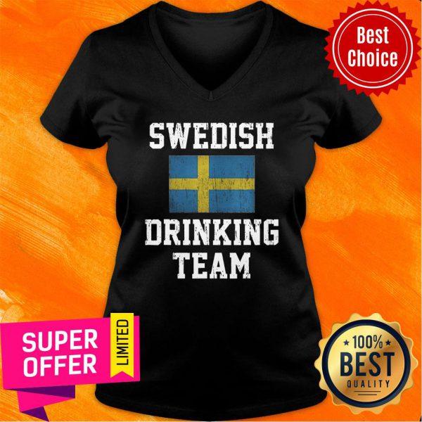 Vintage Swedish Drinking Team V-neck